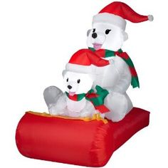 Check out Polar Bears On Sled Airblown Christmas Decoration - ShopYourWay Polar Bear Christmas Decorations, Inflatable Christmas Decorations, Christmas Tree Toppers, Christmas Ornaments, Holiday Decorations, Yard Inflatables, Holiday Inflatables, Baby Polar Bears, Thanksgiving Wishes