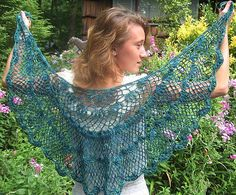 Ravelry: Down the Garden Path pattern by Michele DuNaier.  I'd love to make this shawl.