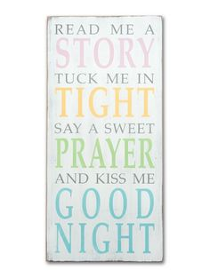 read me a story - new,kid's room,new baby signs - Wall Decor from Barn Owl Primitives