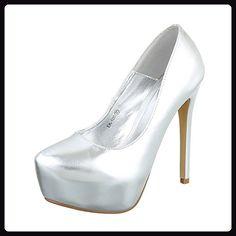 High Heel Damen-Schuhe Plateau Pfennig-/Stilettoabsatz High Heels Ital-Design  Pumps
