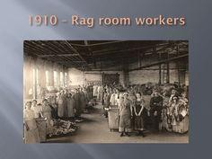 Workers in the rag room, Lee Paper Company, Vicksburg, Michigan ca. 1910.  Vicksburg Historical Society collection. Vicksburghistory.org