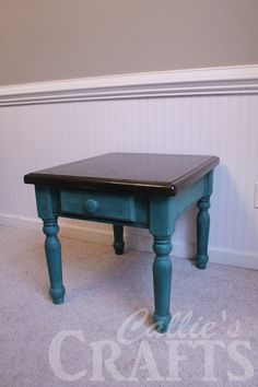 callies crafts chalk paint end table update