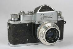 Rare 1953 Zenit-1 Soviet Russian 35mm SLR Camera / KMZ - Early Version - USSR #Zenit