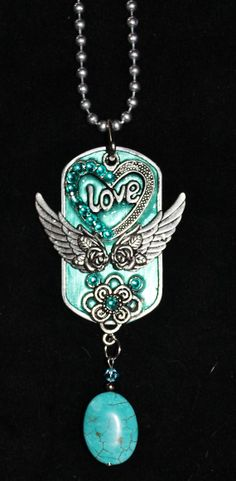 Dog Tag Necklace .... Dangle piece by Forever peace