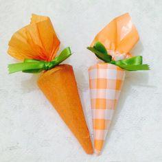 Cenouras (cones recheados de trufa)