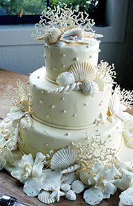 Beach cake pictures, love the coral