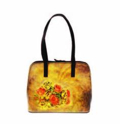 Ručne maľovaná kabelka 8573 s motívom Ruže