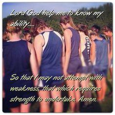 Running Cross country Team work Prayer