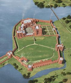 Reconstruction of Kenilworth as it may have appeared in after the Earl of . - Reconstruction of Kenilworth as it may have appeared in after the Earl of Leicester's works - Fantasy Castle, Fantasy Map, Kenilworth Castle, Castle Illustration, Chateau Medieval, English Castles, Château Fort, English Heritage, Walled City