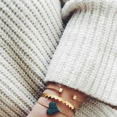 Bracelet love! 💚 #sweaterweather #SummerAddicts