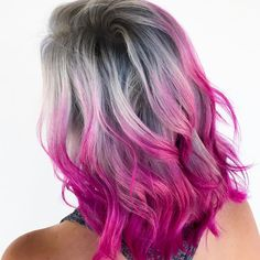 "1,352 Likes, 22 Comments - Color Rainbow Hair Los Angeles (@hairhunter) on Instagram: ""MY SÖUL is pink and grey. I'm sure of it. Used @matrix and @pulpriothair to create this pretty…"""