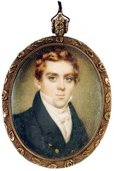 Rare And Important Earlly 19th Century American Miniature Portrait Of An Elegant Young Man By Nathanial Rogers
