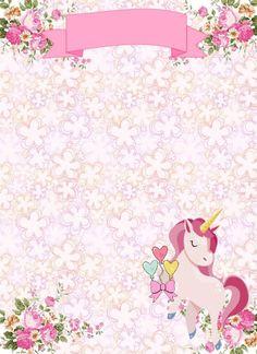 30 FREE Printable Unicorn Baby Shower Bday Invitation