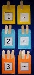 Numbers Preschool, Preschool Learning, Kindergarten Math, Teaching Math, Learning Numbers, Early Learning Activities, Fun Learning, Toddler Activities, Learning Stations