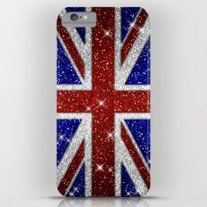 Glitters Shiny Sparkle Union Jack Flag Slim Case iPhone Plus Iphone Decal, Cool Iphone Cases, Union Jack, Iphone Skins, Electric Blue, 6s Plus, Iphone 8 Plus, Vinyl Decals, Sparkle
