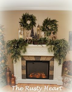 Rusty Heart Designs: Christmas Mantel | Holidays Y'all