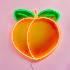 Fruit Neon Sign Peach Banana Strawberry Watermelon Neon Light Emoji Neon Sign That's ass tho! Neon Aesthetic, Orange Aesthetic, Mickey Tumblr, Decoration Entree, Plakat Design, Just Peachy, Neon Lighting, My New Room, Wall Collage