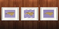 Cullowhee North Carolina State Set of Three Giclée by PaintedPost, $37.00 #paintedpoststudio - Western Carolina University - Catamounts- What a great and memorable gift for graduation, sorority, hostess, and best friend gifts! Also perfect for dorm decor! :)