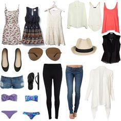 European packing list summer by Ally