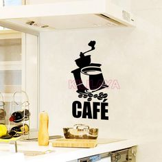 Aliexpress.com : Buy Stickers French Cuisine Grinder Coffee Beans Vinyl Wall Decals Wallpaper Mural Wall Paper Art Kitchen Tile Decal Home Decor from Reliable decorative vinyl wall decals suppliers on Kililaya