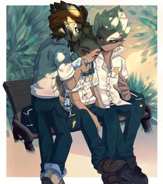 """""""Summer Break Trio Idk wich version is better, so have both"""" Stray Dogs Anime, Best Friendship, Inazuma Eleven Go, Boy Art, Cute Boys, Images, Manga, Drawings, Humor"""