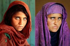 AFGHAN WOMAN.....SHARBAT GULAN....THEN AND NOW....BY STEVE MCCURRY....PARTAGE OF SHOT ON FACEBOOK.....