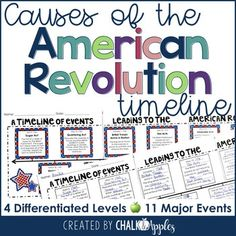 of the American Revolution Timeline -. by Chalk and Apples Social Studies Notebook, Social Studies Classroom, Social Studies Activities, Teaching Social Studies, Teaching Tips, American Revolution Timeline, American History Lessons, Dating Timeline, Create A Timeline