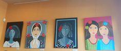 Maribel Moratilla Ayer la vimos en el Café Bocatería 40/15, de Zaragoza (España), dónde esas paredes estaban rebosantes de luz y color. Siempre es esa la sensación, cuándo acudes a ver los cuadros…