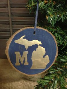 Michigan State University Rustic Barkwood Natural State Christmas ...