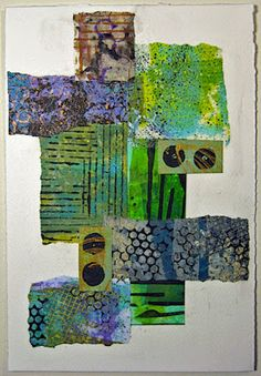 constance rose : mixed media and textiles: Paper Collage 2