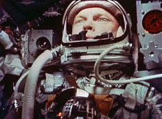 John Glenn in the Friendship 7 capsule, part of the Mercury programme. #JohnGlenn