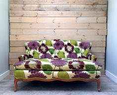 Purple and Green Tufted Floral Vintage Settee by chezboheme, $2400.00