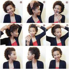 3 penteados simples e fáceis para cabelo cacheado/crespo e curto - Penúltimo Andar