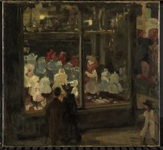 Shop Window, painted in 1894 by Isaac Israels—son of the much-beloved and much-more-traditional Dutch genre painter Joseph Israëls—captures the bright new nighttime atmosphere in Amsterdam.