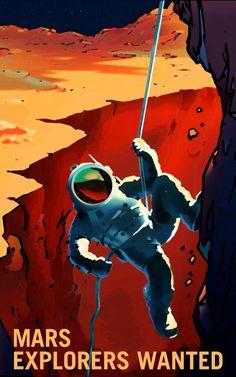 Nasa wirbt mit Zukunfts-Postern für Menschen auf dem Mars
