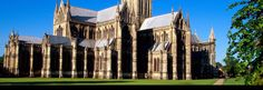 This is the Salisbury Cathedral, church in United Kingdom, Europe.  I chose this picture because it is just beautiful.  The sky is great, but the cathedral is just outstanding.