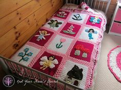 This is the main blanket pattern for the Fairy Garden Blanket. All appliques can be purchased in my Ravelry Store