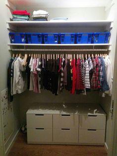 Sonens walk in closet.