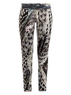 Helmut Lang Pheasant-print Reflex leggings