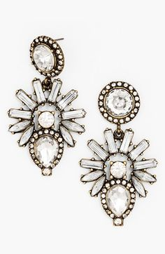 BaubleBar 'Aztec' Crystal Drop Earrings available at #Nordstrom