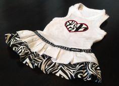 Zebra Heart Dog Dress by FetchDogFashions on Etsy, $42.99
