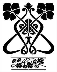 Arte Nouveau n ° 2 de la plantilla desde el catálogo en línea Biblioteca de la plantilla. Comprar plantillas en línea. TR8 código de la plantilla.