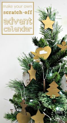 make your own scratch-off advent calendar, that doubles as pretty decorations for your Christmas tree