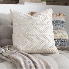 Dakota Fields Statler Textured Cotton Throw Pillow Cover & Reviews | Wayfair
