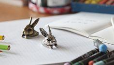 YaciKopo Metal handmade Bunny ring (open ring)