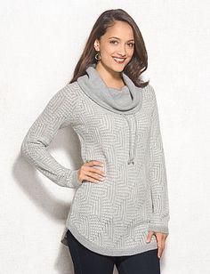 dbSunday™ Textured Cowl Neck Sweater Tunic