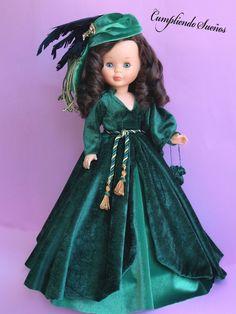 """El día del esperado estreno de """"Lo que el viento se llevó"""", el 15 de diciembre de 1939, el gobernador de Georgia declaró feriado (día de fer... Nancy Doll, Doll Making Tutorials, Wellie Wishers, Barbie, Gone With The Wind, Madame Alexander, American Girl, Doll Clothes, Fancy"""