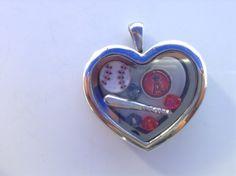 Anaheim angels heart locket