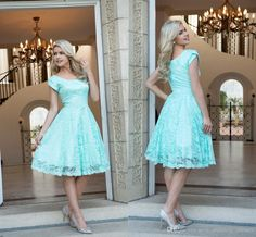 Do not worry about the size and come to buy plus size dress,plus size evening dresses and plus size jeans on DHgate.com. 2017 mint vintage short lace modest bridesmaid dresses cap sleeves knee length rustic party guests dresses hy1420 in sexy_wedding_dresses is your best choice.