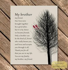 35 Trendy gifts for brother christmas from sister diy Brother Birthday Quotes, Brother Sister Quotes, Birthday Cards For Brother, Brother And Sister Love, Mom Birthday Gift, Nephew Quotes, Funny Sister, Birthday Thoughts For Sister, Missing My Brother